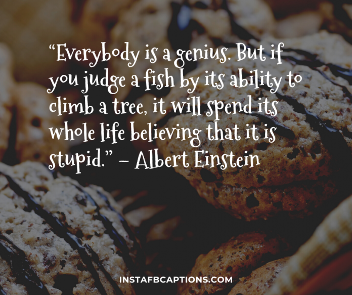 """everybody Is A Genius. But If You Judge A Fish By Its Ability To Climb A Tree It Will Spend Its Whole Life Believing That It Is Stupid."" – Albert Einstei"