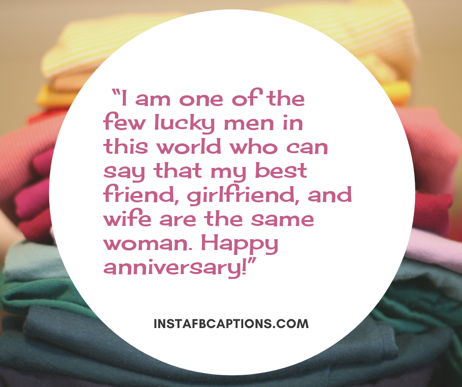 I Love You messages for Wife  -    I am one of the few lucky men in this world who can say that my best friend girlfriend and wife are the same woman - 240+ Love Messages and Quotes for Wife (Birthday Anniversary Hindi )