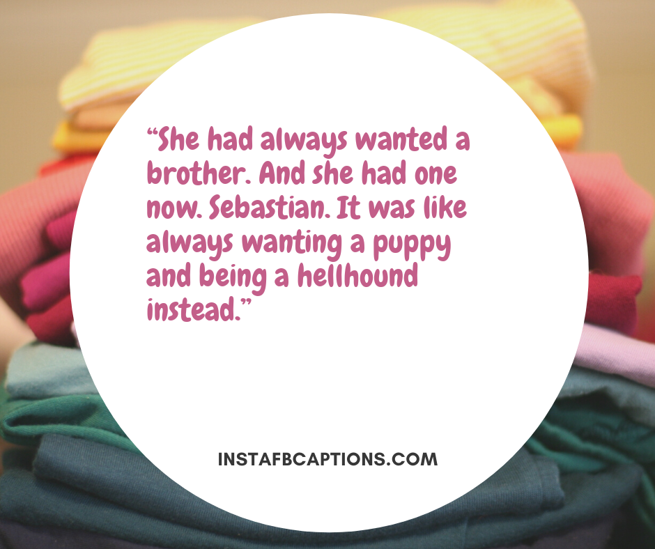 Deep Brother Quotes  -    She had always wanted a brother - 230+ Best Brother Quotes ( Love, Funny, Cute)