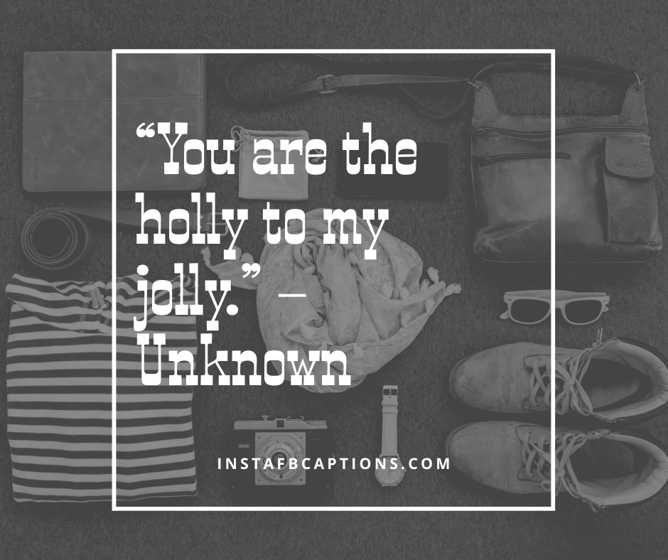 Christmas Light Captions  -    You are the holly to my jolly - 200+ Best Christmas Captions For All your Instagram Pictures (Lights Holiday Funny Family Flirty)