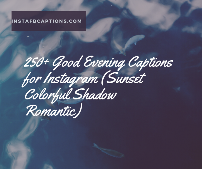 250 Good Evening Captions For Instagram Sunset Colorful Shadow Romantic