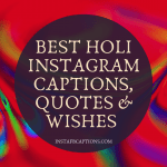 Holi Instagram Captions