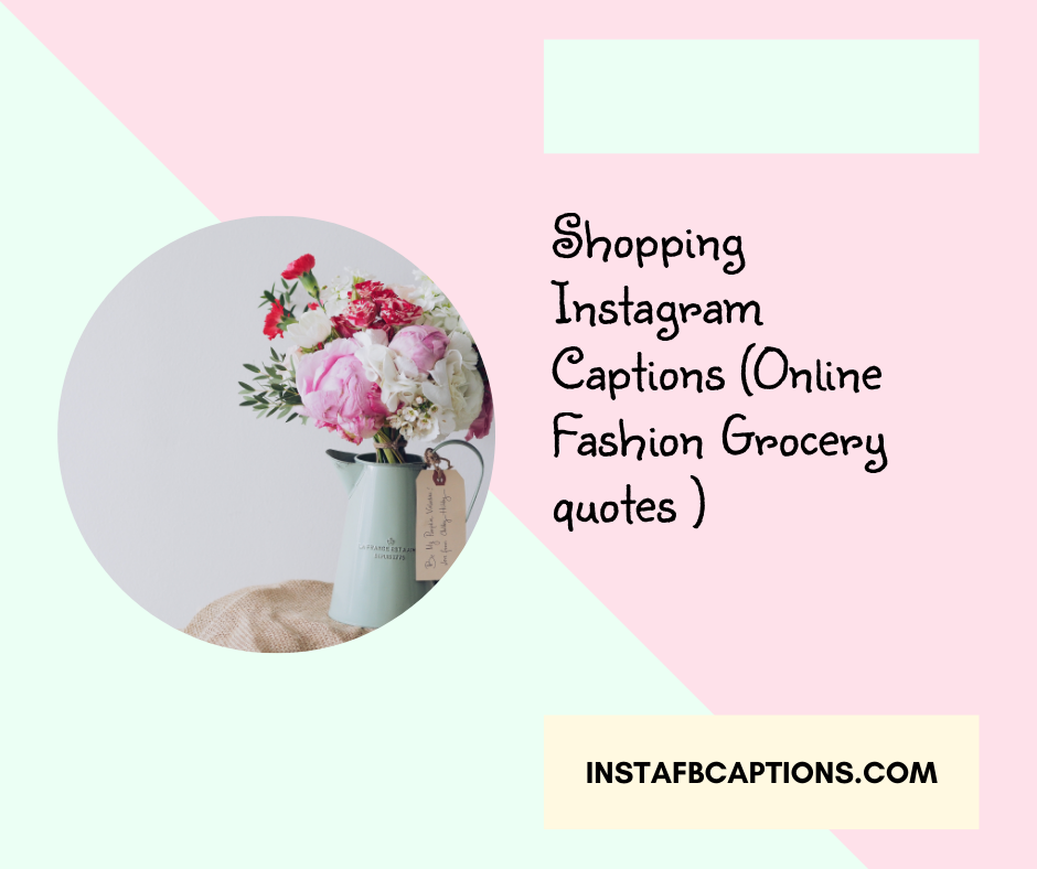 Shopping Instagram Captions Online Fashion Grocery Quotes