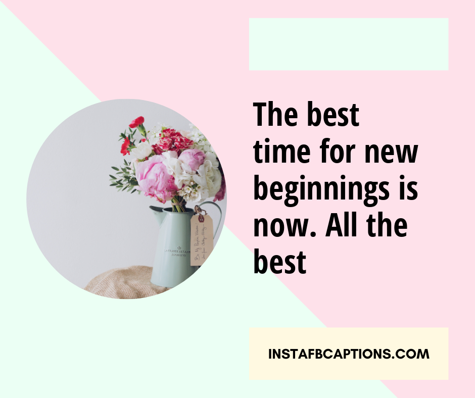 Captions for Starting University  - The best time for new beginnings is now - 400+ Good Luck captions (Future, Career, Performance)