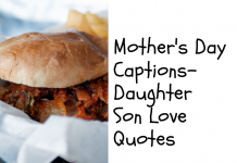 Mothers Day Captions Daughter Son Love Quotes