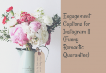Engagement Captions For Instagram || (funny Romantic Quarantine)