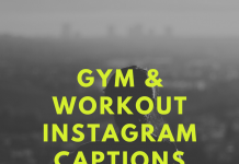 Gym & Workout Instagram Captions