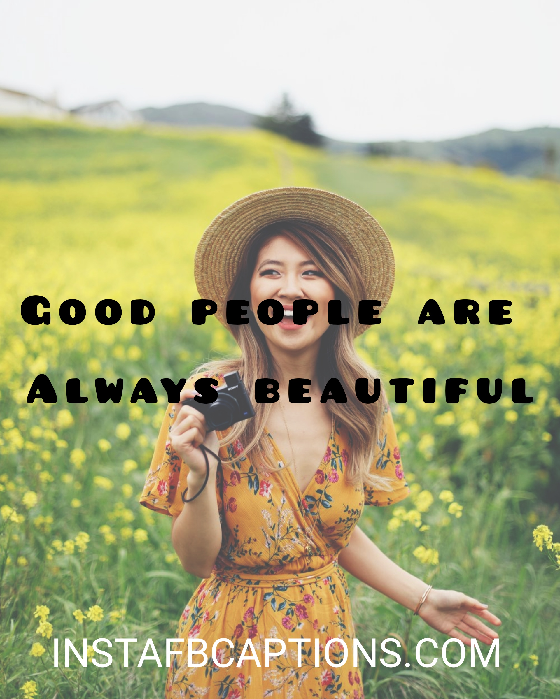 Good People Are Always Beautiful  - Good people are always beautiful - Standing pose captions|(side look attitude model)