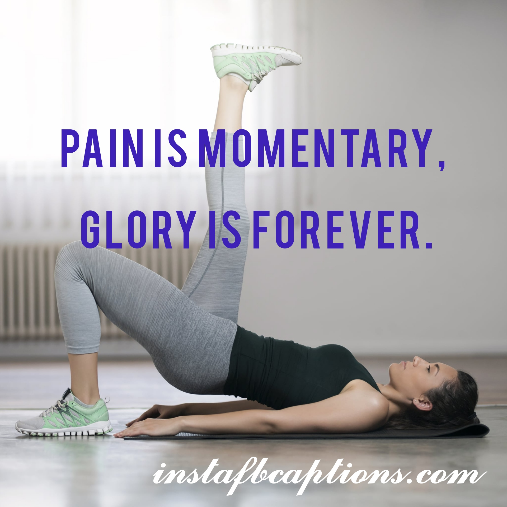 Pain Is Momentary, Glory Is Forever  - Pain is momentary Glory is forever - Fitness Instagram caption||(Gym Goals Home Workout)