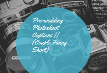 Pre Wedding Photoshoot Captions || (couple Funny Short)
