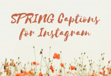 Spring Captions For Instagram