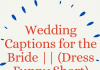 Wedding Captions For The Bride (dress Funny Short)