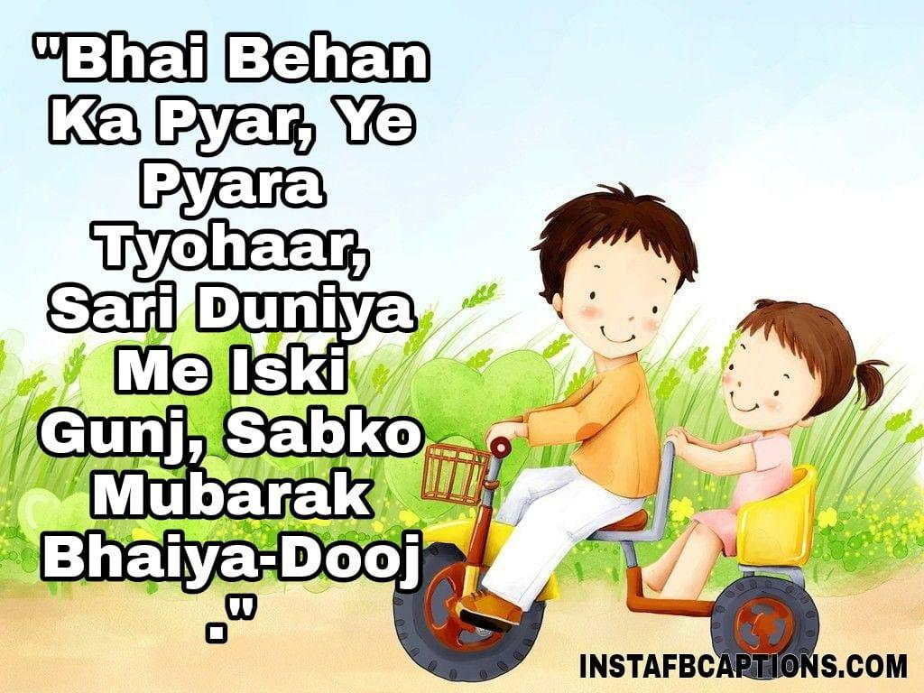 """""""Bhai Behan Ka Pyar, Ye Pyara Tyohaar, Sari Duniya Me Iski Gunj, Sabko Mubarak Bhaiya-Dooj.""""  - WhatsApp Image 2020 10 28 at 01 - BHAI DOOJ Instagram Captions & Quotes for Brother 2021"""