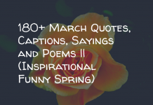 180 March Quotes Captions Sayings And Poems Inspirational Funny Spri