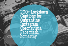 200+ Lockdown Captions For Quarantine Instagram Coronavirus, Face Mask, Homestay