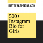 500+ Instagram Bio For Girls