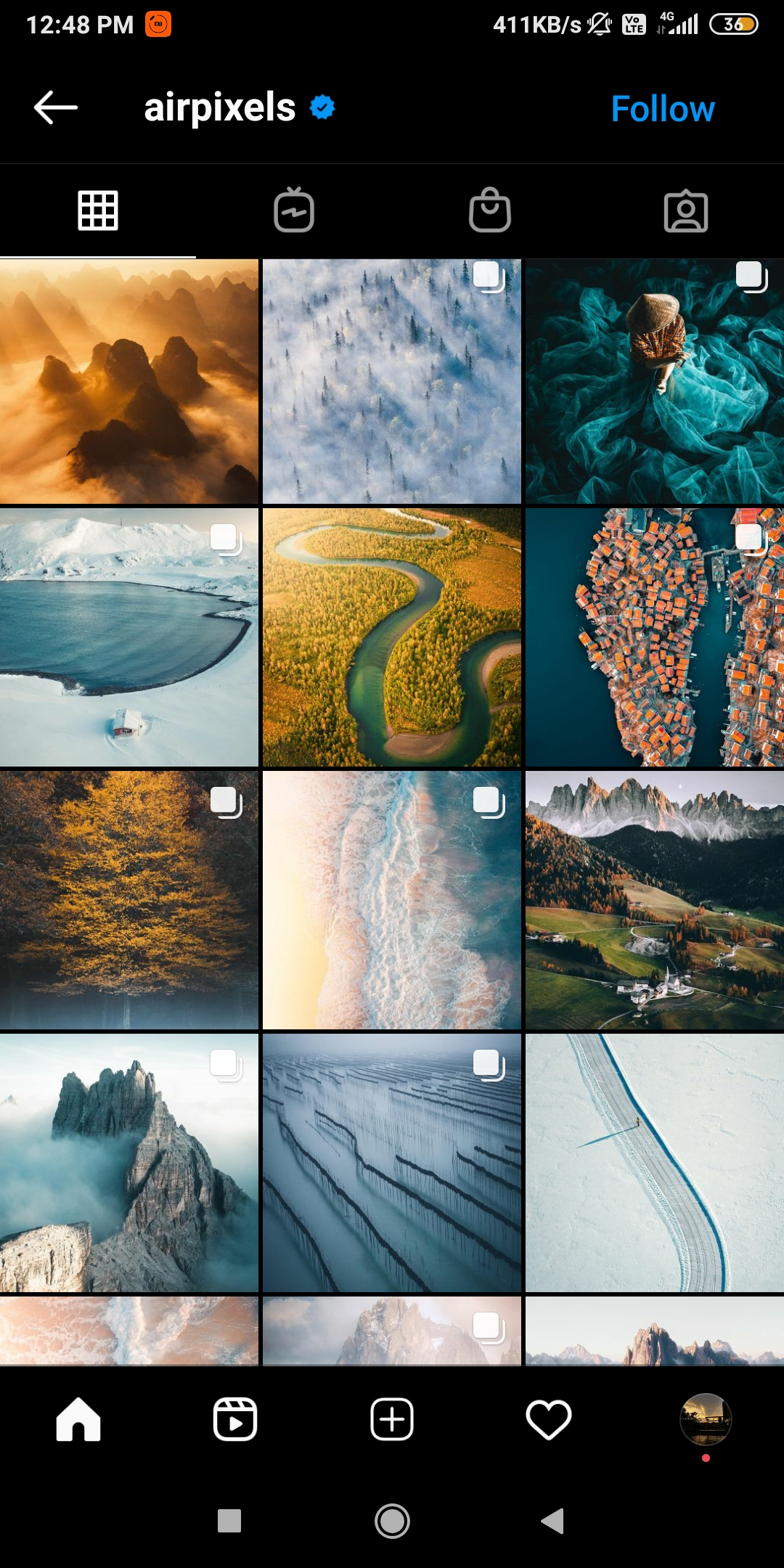 @airpixels  -  airpixels - 43 Best PHOTOGRAPHY Instagram Accounts  – PHOTOGRAPHERS to Follow Right Now