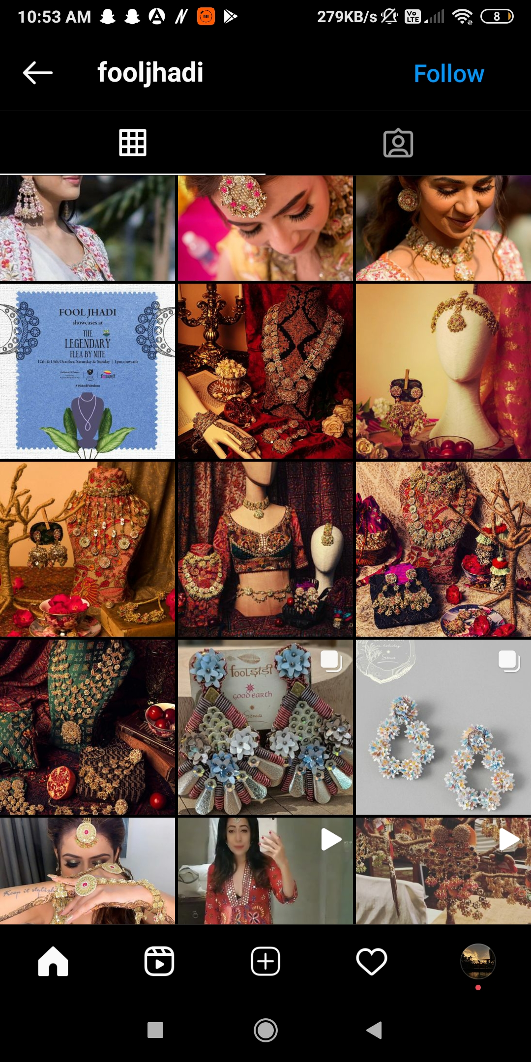 @fooljhadi  -  fooljhadi - 50+ SHOPPING Instagram ACCOUNTS for Clothes, Shoes, Jewellery 2021