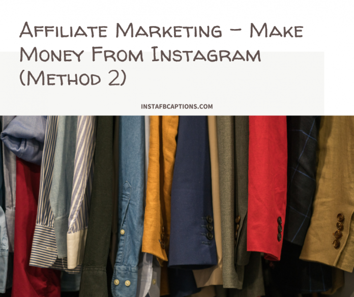 Affiliate Marketing Make Money From Instagram (method 2)