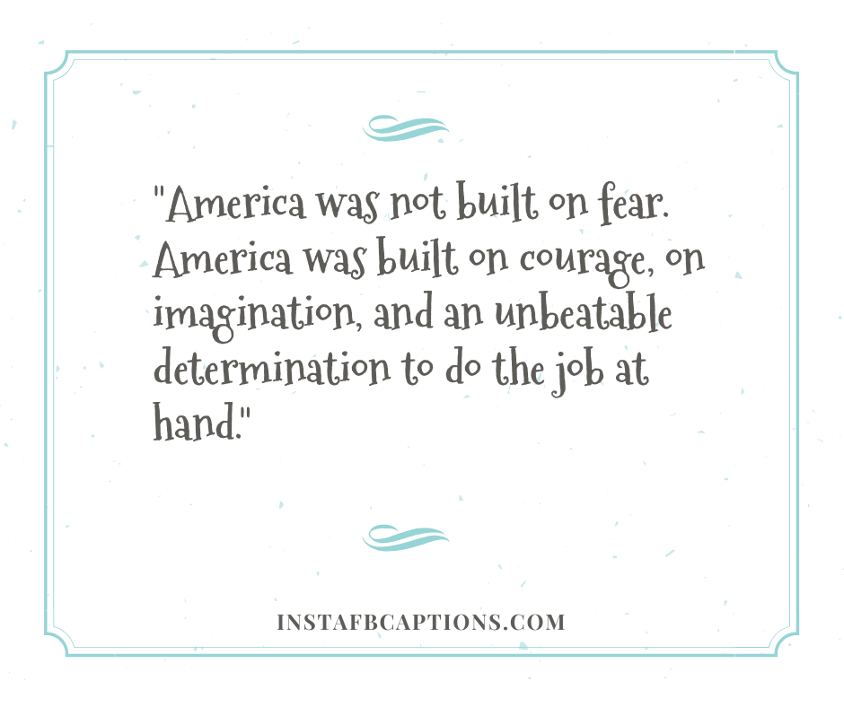 December Motivation Quotes  - America was not built on fear - December Captions, Quotes, and Sayings || (Winter Calendar Christmas)