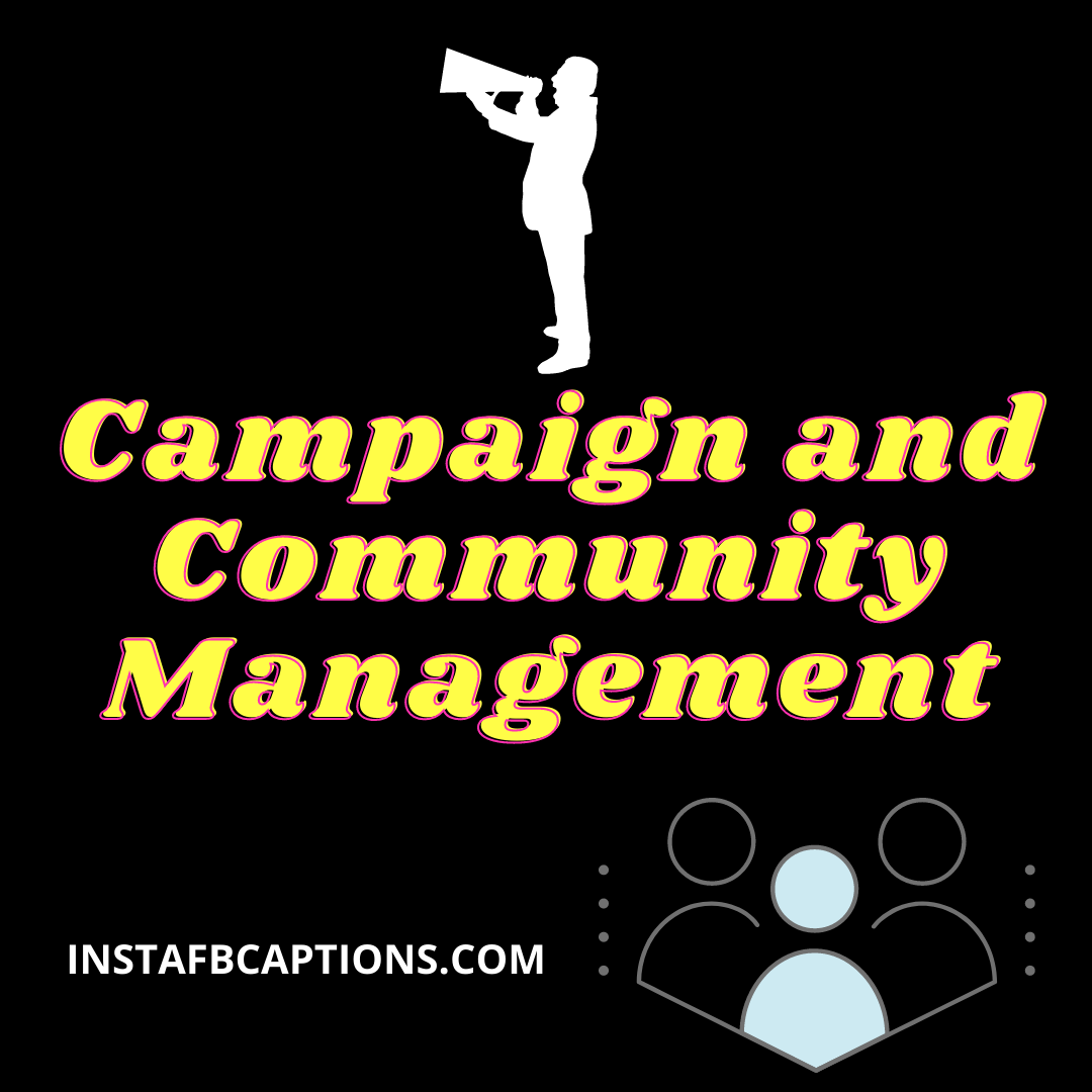 Campaign And Community Management  - Campaign and Community Management - Social Media MARKETING SERVICES – Make Money From Instagram