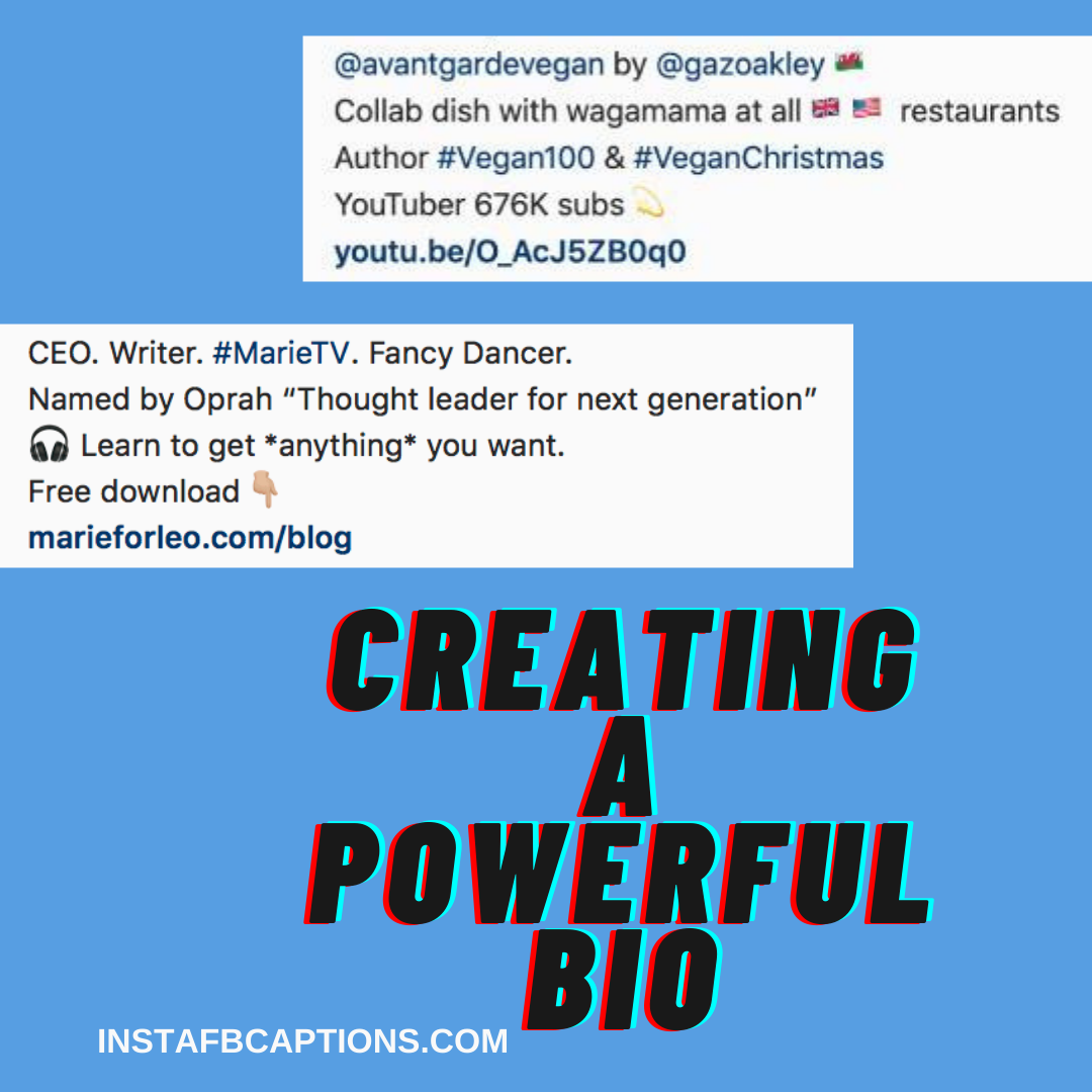 Creating A Powerful Bio  - Creating a Powerful Bio - Instagram Influencing – Make Money From Instagram (Method 4)