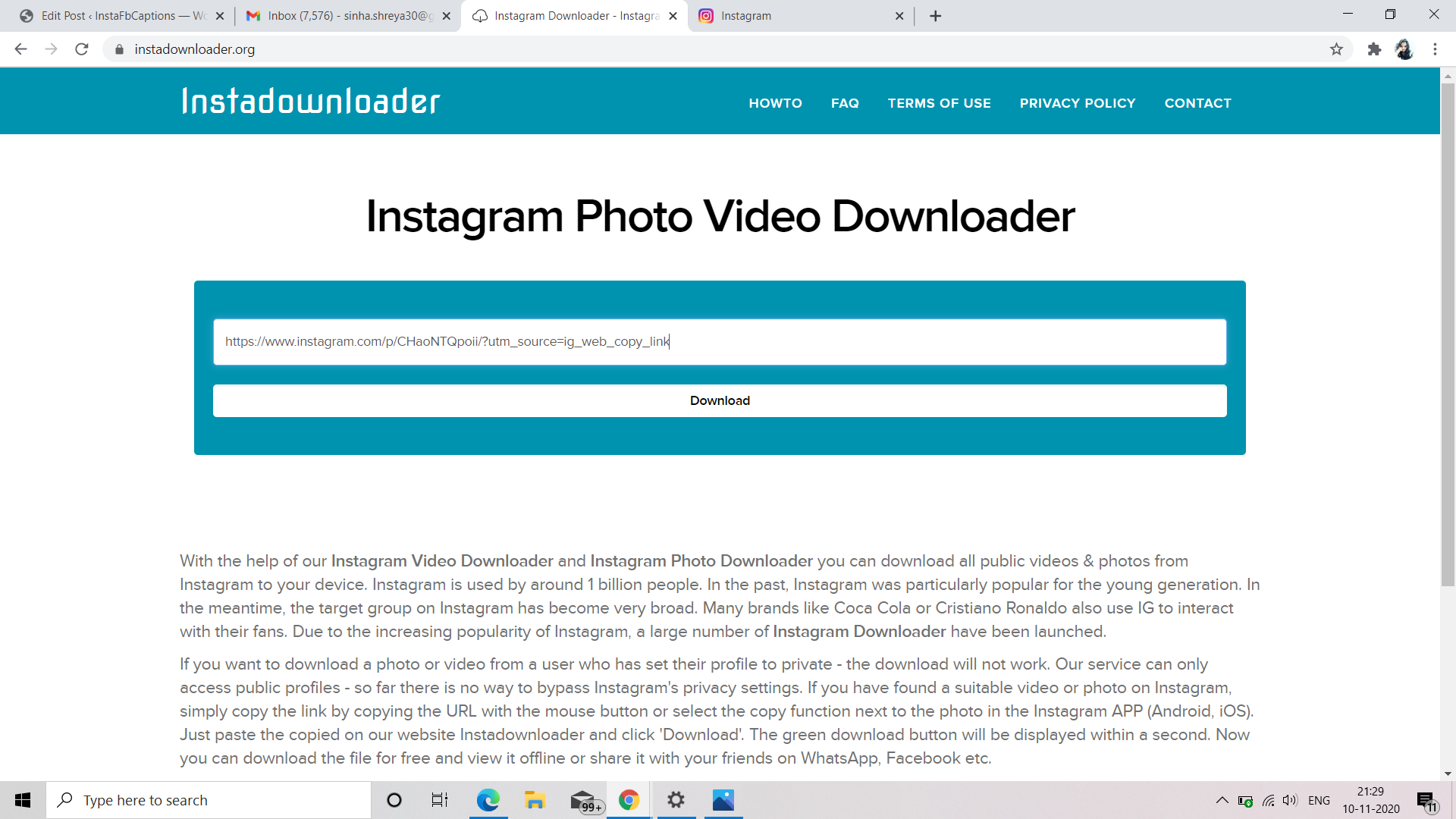 Download Instagram Videos From Instagram To Pc Through Video Downloader 2  - Download instagram videos from Instagram to PC through Video downloader 2 - Download Instagram Videos (14 Methods) – PC, Android, iPhone, Apps