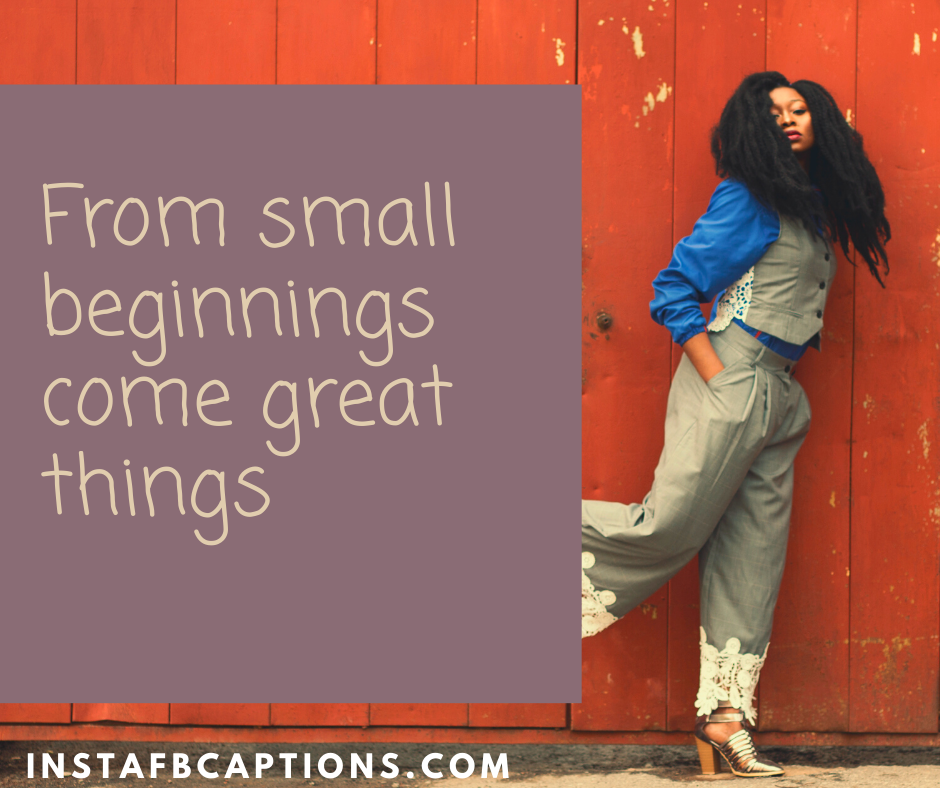 Childhood Picture Throwback Captions  - From small beginnings come great things - 210+ Throwback Captions for Travel, Friends, Couples, Quarantine, Party