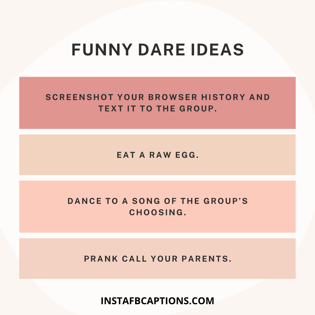 Funny Dare Ideas  - Funny Dare Ideas - 1000+ DARE IDEAS for Truth Or Dare Game 2021