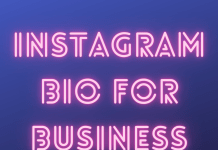 Instagram Bio For Business