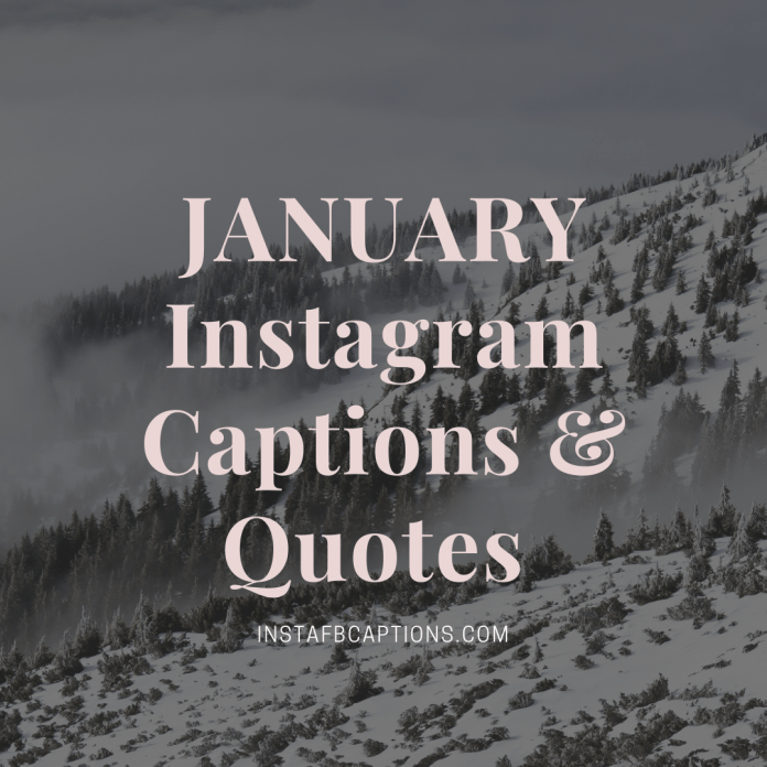 January Instagram Captions & Quotes