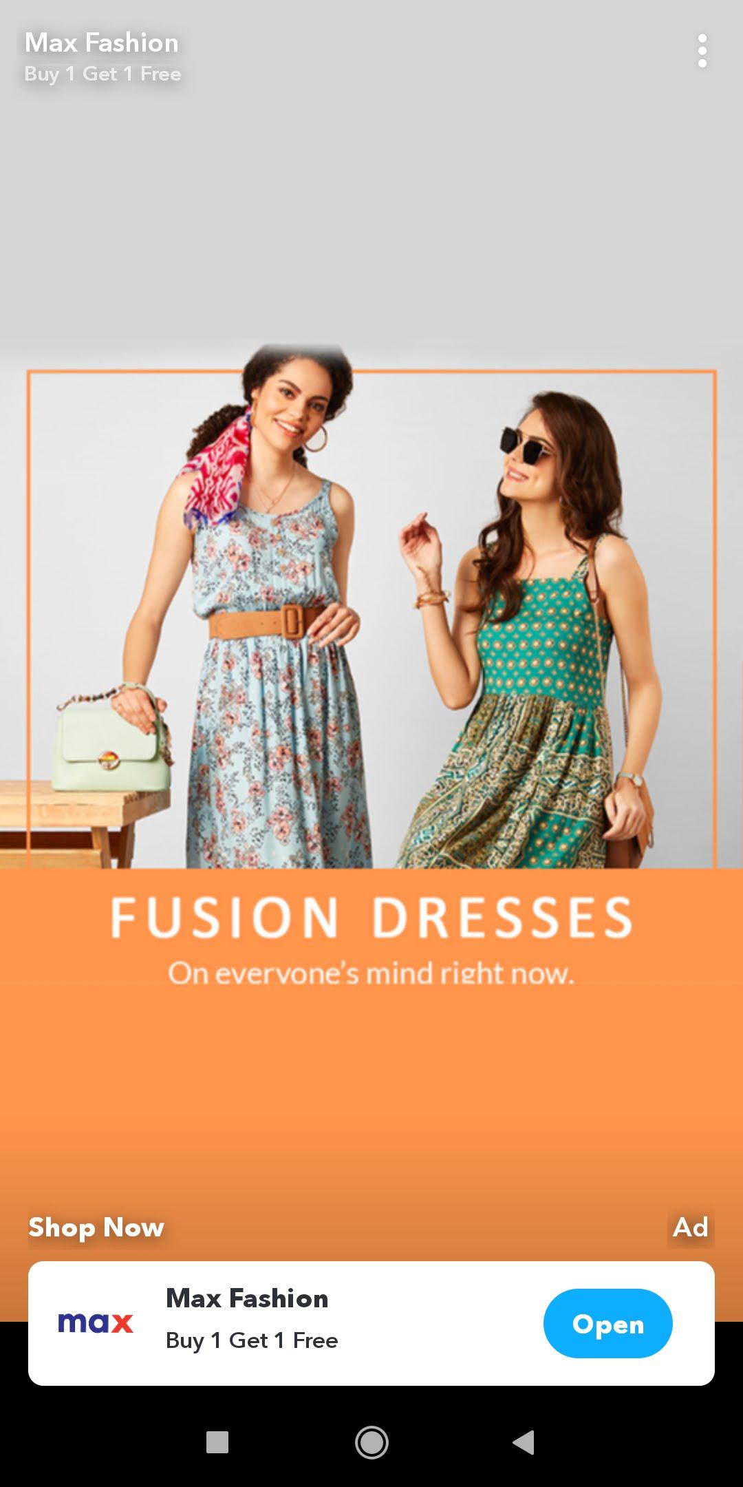Snap Ads  - Max Fashion Snap ad - MAKE MONEY on SNAPCHAT – 4 Methods