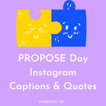 Propose Day Instagram Captions & Quotes