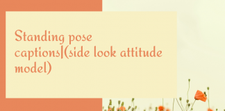 Standing Pose Captions|(side Look Attitude Model)