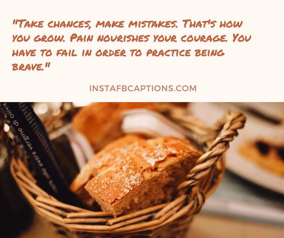 December Love Quotes  - Take chances make mistakes - December Captions, Quotes, and Sayings || (Winter Calendar Christmas)