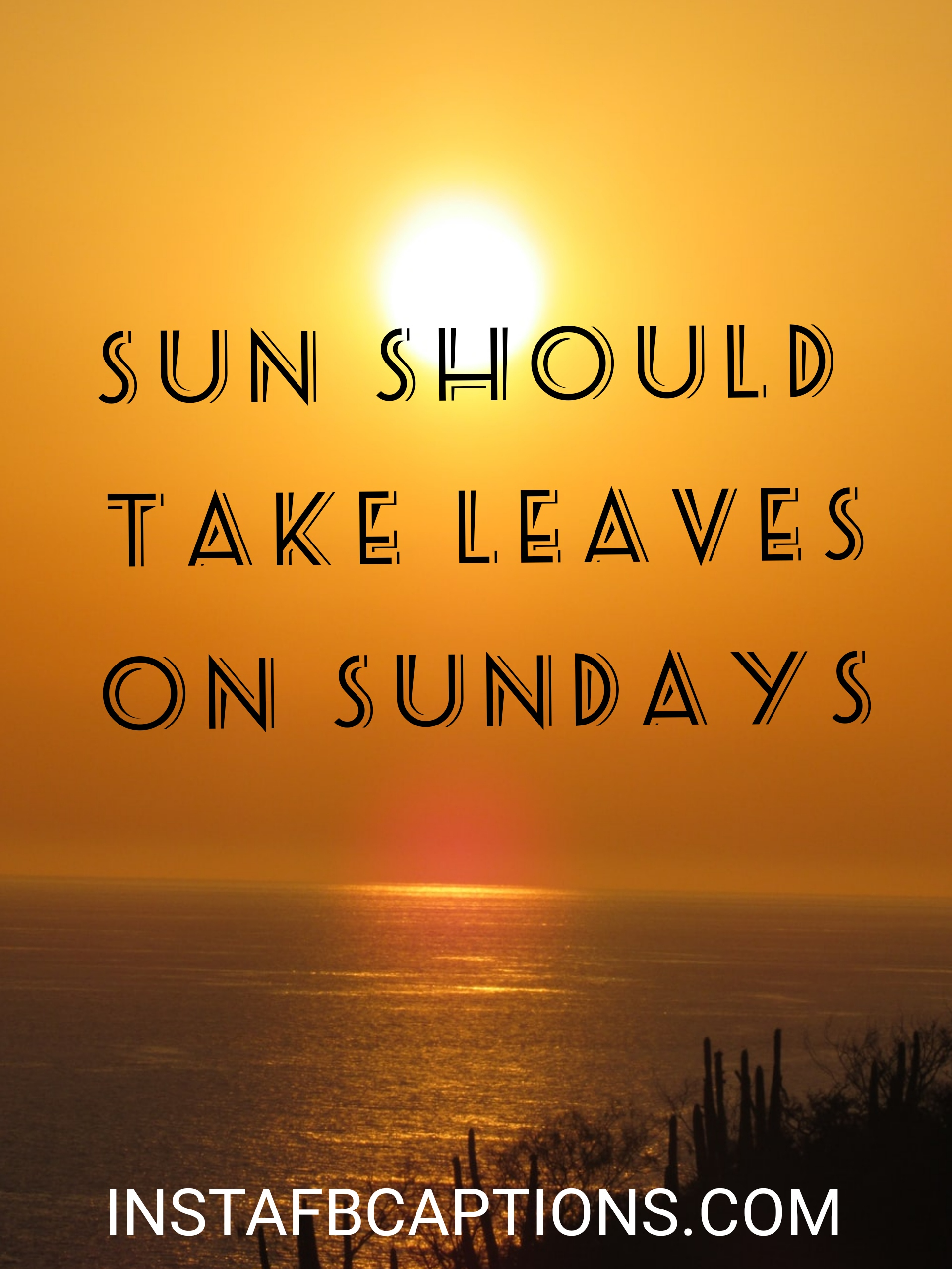 Sun Should Take Leaves On Sundays  - sun should take leaves on sundays - 500+ Weekend Captions (Friends Long Trip Food Throwback)