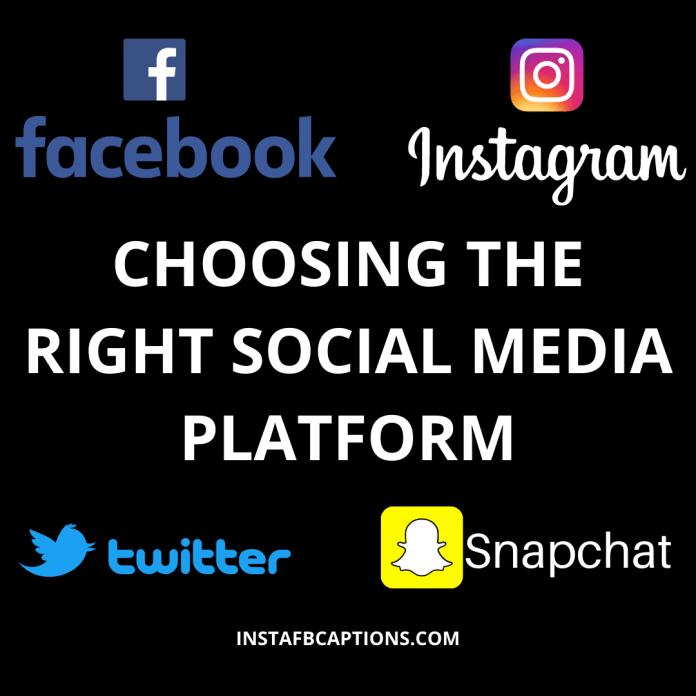 Choosing The Right Social Media Platform Instagram Vs Facebook Vs Snapchat Vs Twitter