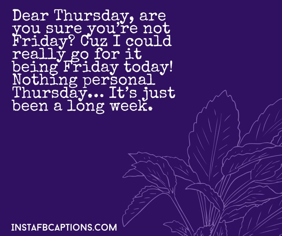 Cute Thursday Captions  - Cute Thursday Captions - 150+ THURSDAY Instagram Captions 2021