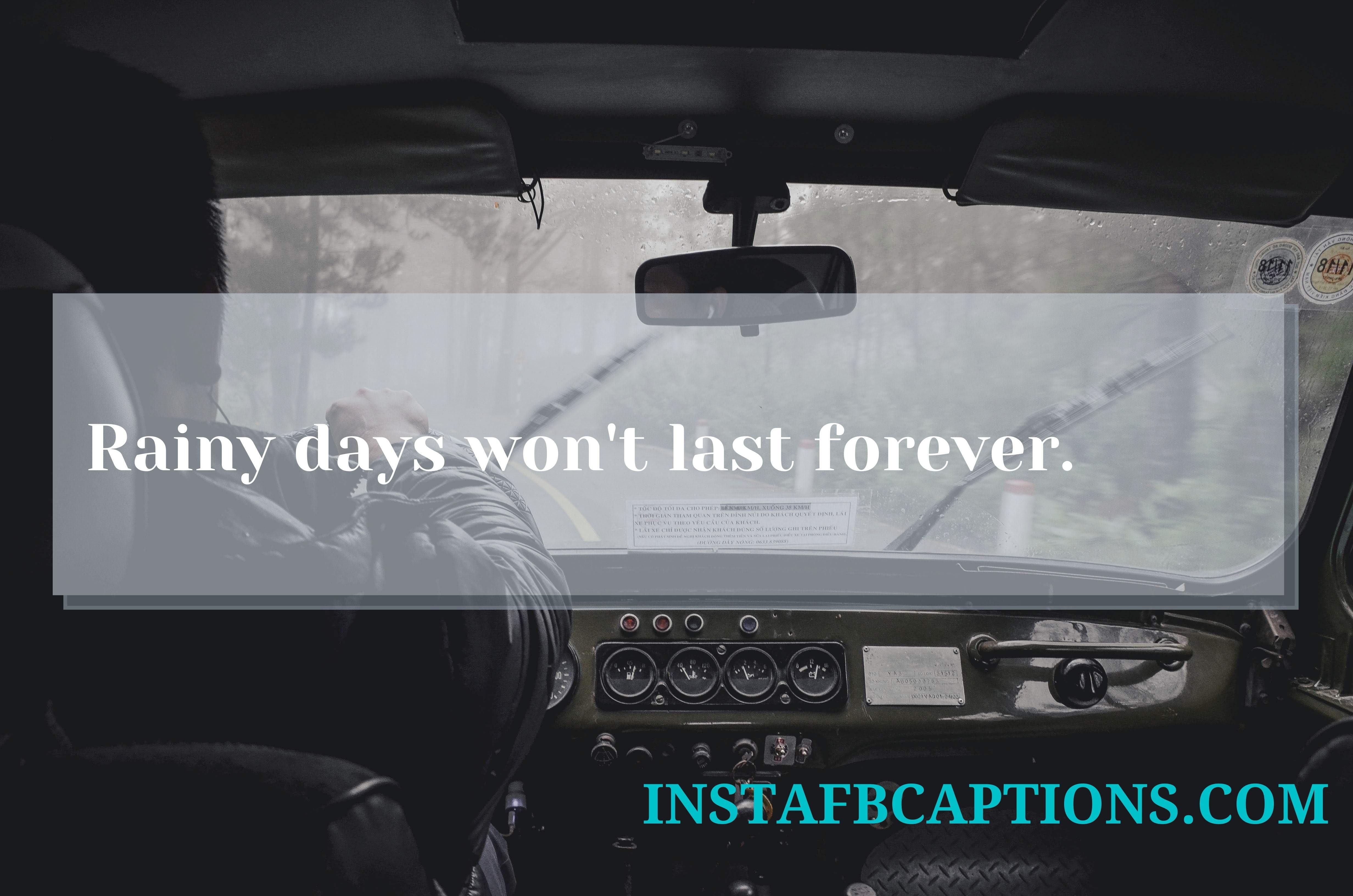 Driving In Rain Captions  - Driving in Rain Captions - 120+ RAIN & MONSOON Instagram Captions 2021
