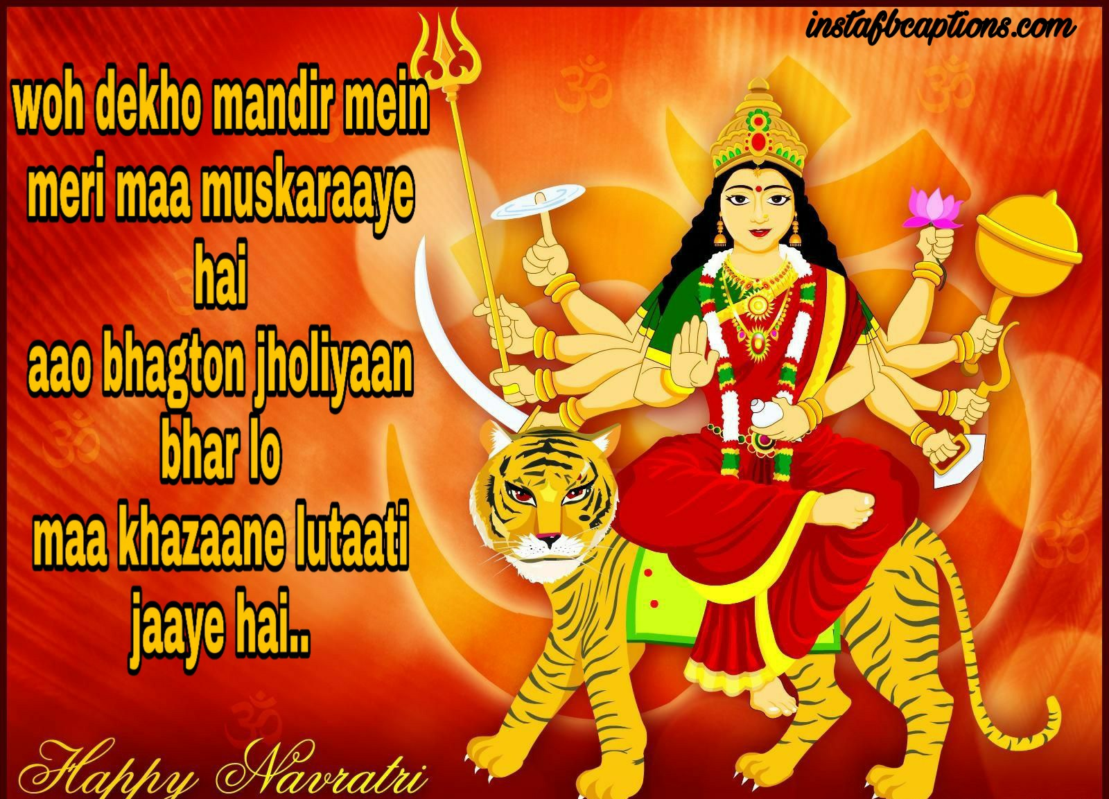 Hindi Navratri Poems  - Hindi Navratri Poems - 120+ NAVRATRI Captions for your Navratri Outfit Instagram Post 2021