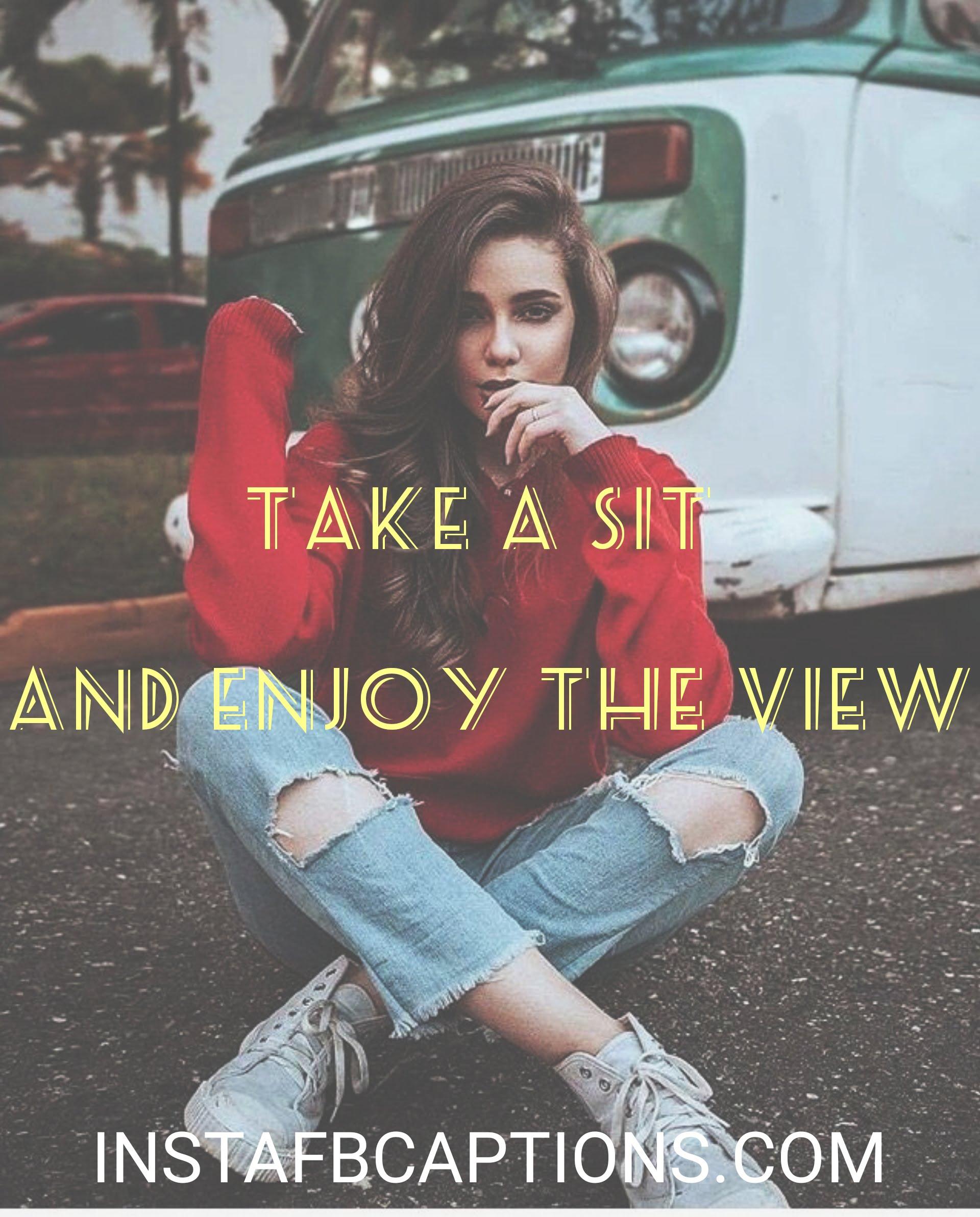 Sitting On Road Captions  - Sitting on road captions - 120+ SITTING POSE Instagram captions 2021