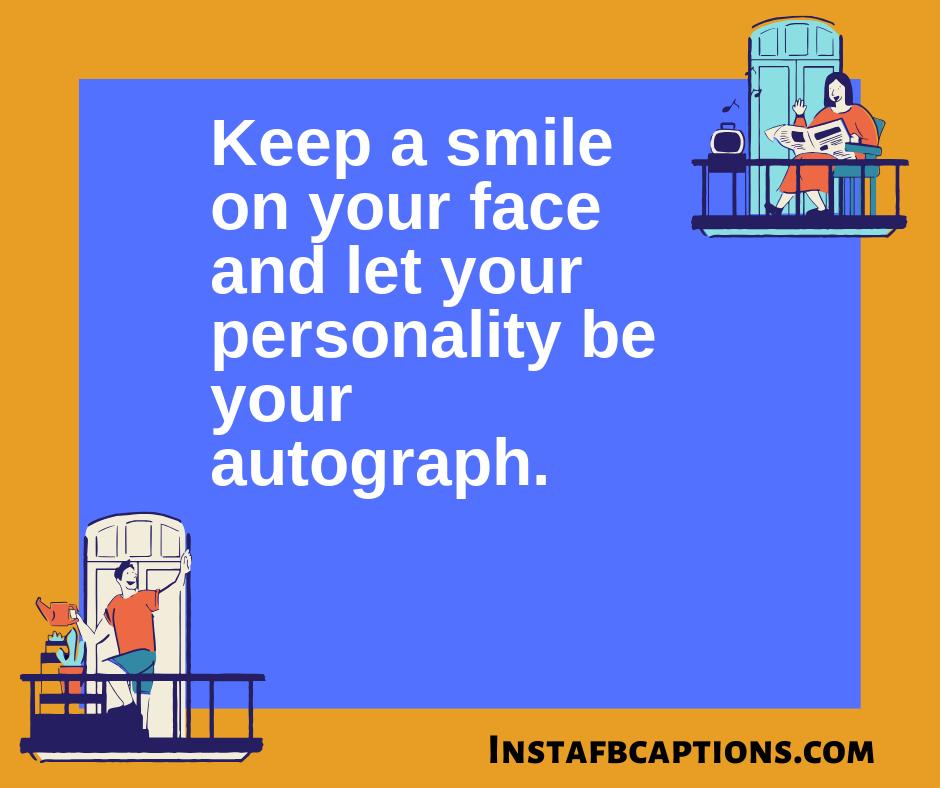 Smile Captions For Instagram  - Smile Captions for Instagram - 200+ Short SMILE Instagram Captions for Selfies 2021