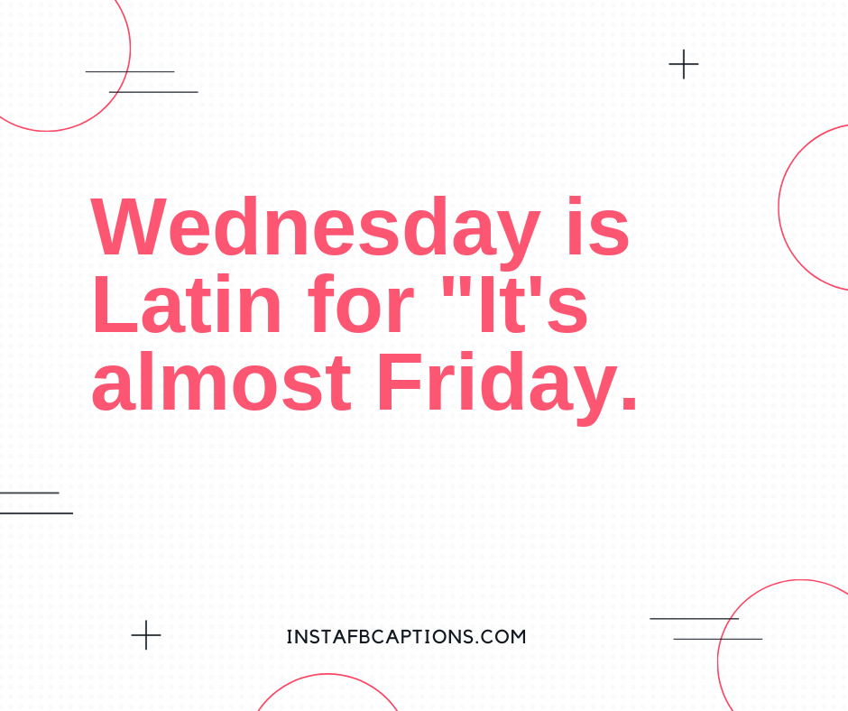 Witty Wednesday Quotes  - Witty Wednesday Quotes - 100+ WEDNESDAY Instagram Captions 2021