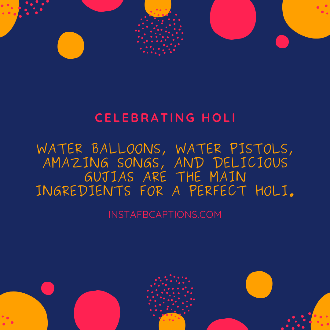 Holi Captions For Colours  - Holi Captions for Colours - 150+ Best HOLI Instagram Captions, Quotes & Wishes 2021