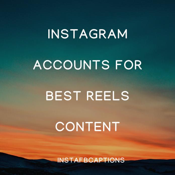 Instagram Accounts For Best Reels Content