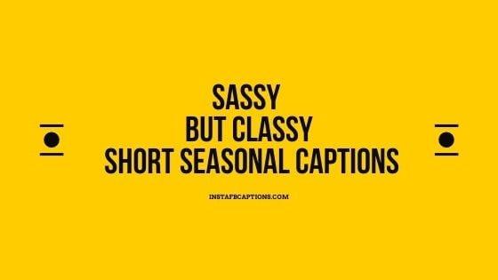 Sassy But Classy Short Seasonal Captions
