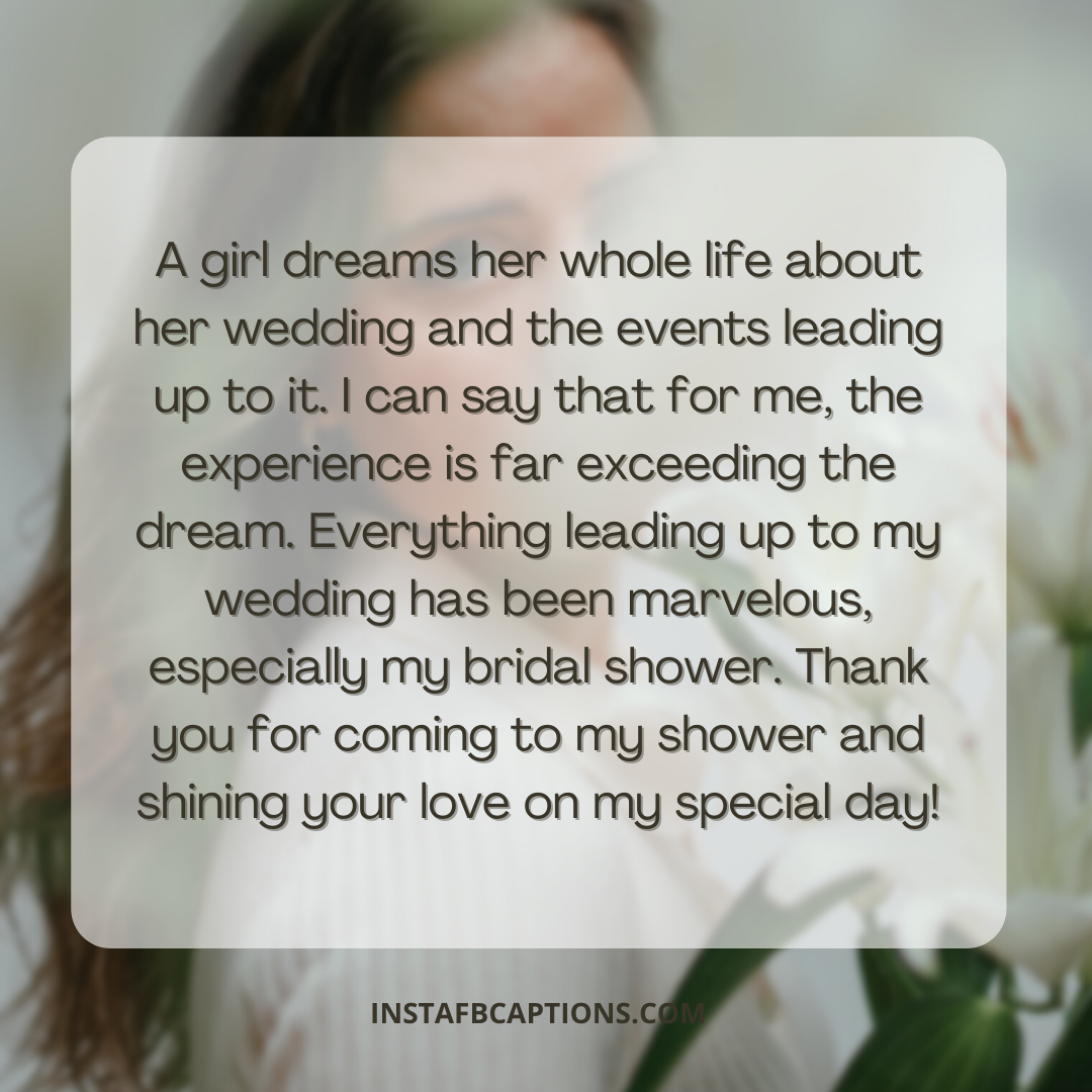 Bridal Shower Captions Thank You Notes For Guests  - Bridal Shower Captions Thank You Notes for Guests - Ready for your Bridal Shower? 96+ Instagram Captions, Quotes, and Notes you need
