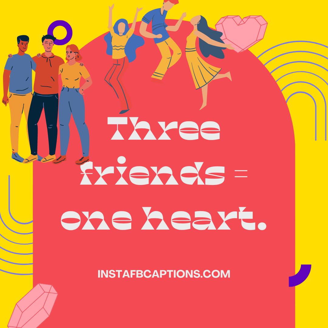 Dynamic Trio Captions Friends Forever  - Dynamic Trio Captions Friends Forever - Best Instagram Captions For Three Friends – Trio BFF in 2021