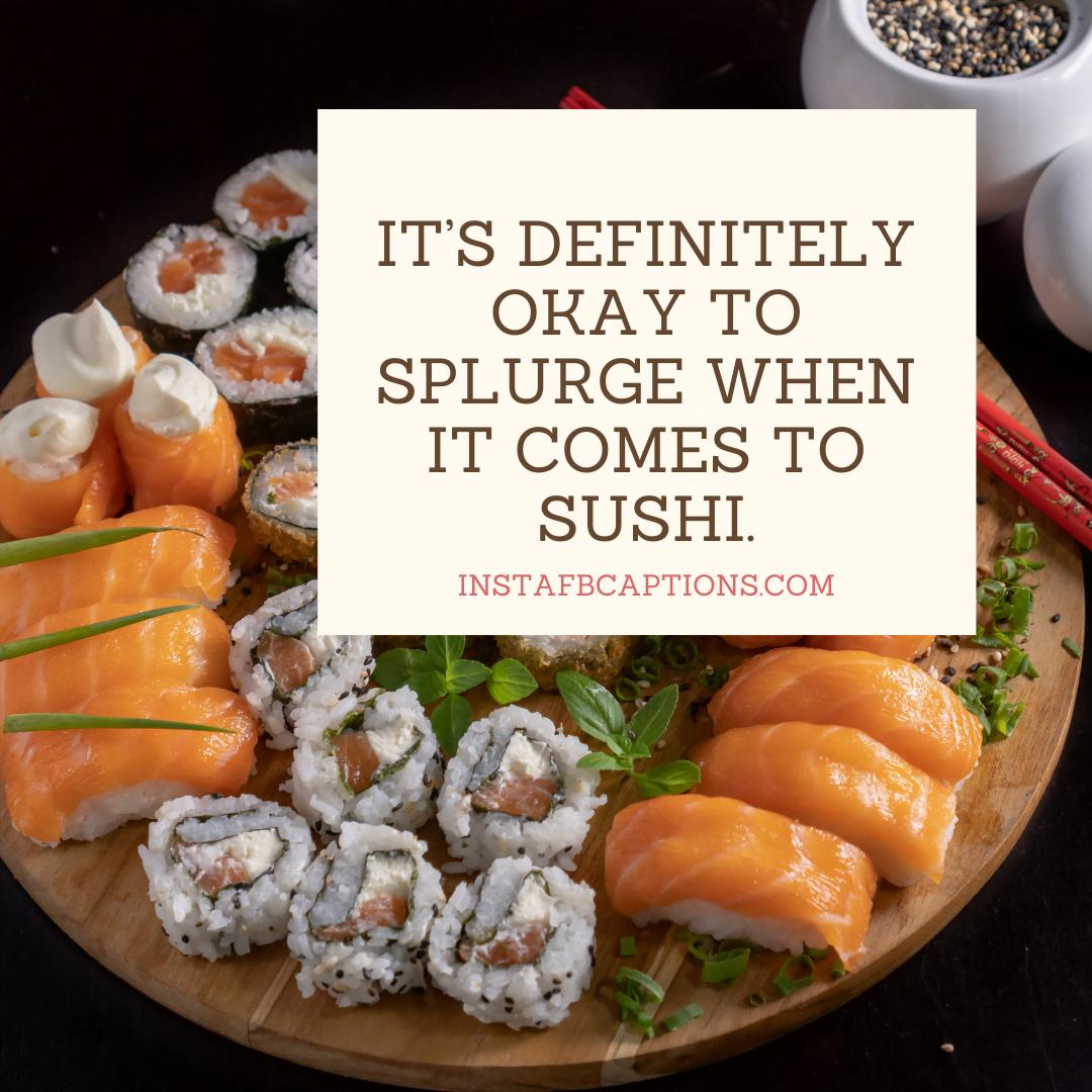 Wasabi Alert! Spicy Sushi Captions 2021  - Wasabi Alert Spicy Sushi Captions 2021 - 300+ SUSHI Instagram Captions to use in 2021