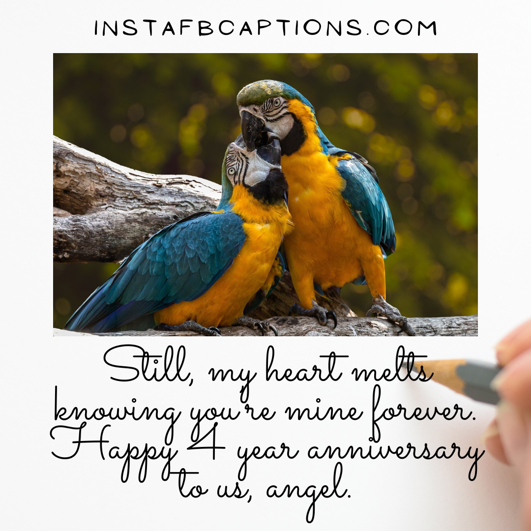 4th Anniversary Quotes Instagram Of Affection & Bondi  - 4th Anniversary Quotes Instagram of Affection Bonding - 4th Year Anniversary Instagram Captions and Quotes in 2021
